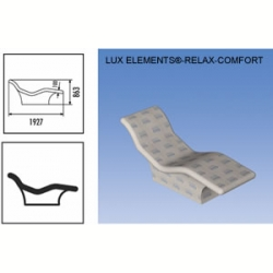 Лежак LUX ELEMENT RELAX BELUGA