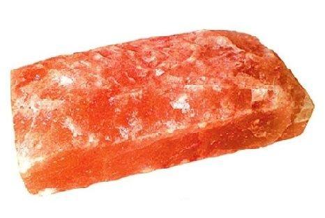 Плитка гималайской соли одна сторона фактурная 20 x 10 x 2,5 см.