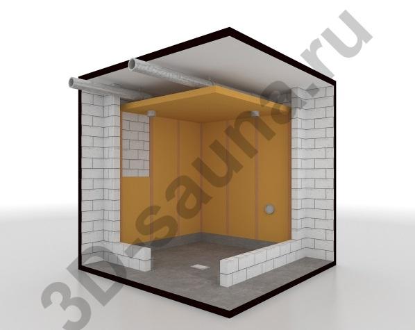 Этапы строительства сауны - теплоизоляция